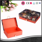 La moda de cuero flor de caja de almacenamiento (8634)