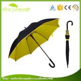 多色刷り高品質の外の黒い内部の層はRainproofまっすぐな傘をカスタム設計する
