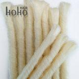 Branco brilhante 20 Polegadas Dreadlocks Backcombed Extensão pêlos sintéticos