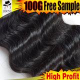 Цвет 100% Unprocessed естественный в волосах малайзийца 7A