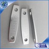 Il metallo su ordinazione della fabbrica anodizza la timbratura della targhetta incisa laser delle parti