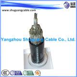 Силовой кабель PVC сердечника VV22p 1 изолированный и обшитый стальной ленты Armored экрана