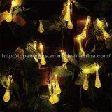 Luzes pstas solares de 20/30 de corda da festa de Natal do casamento da gota da água do diodo emissor de luz