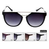 Óculos de sol conservados em estoque prontos da alta qualidade fêmea da forma com lentes revestidas (BAF0006)