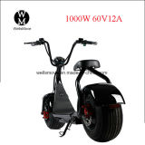 """motocicleta elétrica do estilo gordo de Harley do """"trotinette"""" da mobilidade do pneu 1000W com dispositivo contra-roubo"""