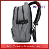 Escola de Nylon impermeável preto Computador Laptop Backpack para homens