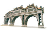 De grote Steen sneed HerdenkingsOverwelfde galerij Paifang