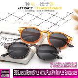 3185 estilo retro unissexo Bujão metálico templos Pin óculos de sol