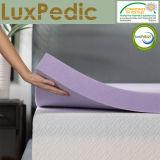 Infusión de lavanda de 3 pulgadas de colchón de espuma de memoria - diseño ventilado
