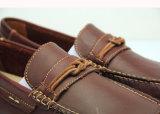 Sapatas lisas do Loafer de couro dos homens do fornecedor da garantia