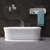 Superficie sólida de acrílico blanco puro bañera de piedra artificial para adultos (171201)