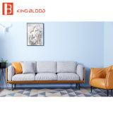 Mobília ajustada do sofá de couro moderno luxuoso de Italy Nappa da entrada do hotel para a venda