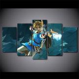 HD напечатало сказание искусствоа холстины части 5 изображений стены плаката игры картины Zelda модульных для живущий комнаты
