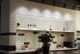 Blanco de 4 x 12 pulgadas/10x30cm cristal biselado brillante de la pared cerámica mosaico Metro baño cocina Decoración