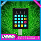 Digitally Printing overlay operation PCB membrane key board SWITCH with Cartoon package
