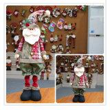 Het telescopische het Schrapen van de Doek van de Kerstman Stuk speelgoed van Kerstmis van de Sneeuwman