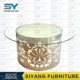 Tableau en verre blanc moderne de mariage de Tableau dinant de meubles de restaurant premier