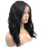 Perruque synthétique de cheveu de femmes ondulés desserrés noirs normaux de Dlme