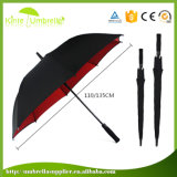 Горячая продажа логотип Custom автоматический разрыв двойной слой ТЕБЯ ОТ ВЕТРА зонтик для гольфа