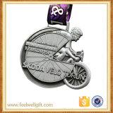 La plata antigua 3D modifica los deportes de la raza para requisitos particulares de la bici que funcionan con la medalla con la cinta