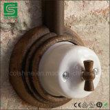 Interruptores eléctricos del interruptor retro montado en la pared de la porcelana de la vendimia
