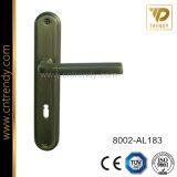 La quincaillerie de porte de la poignée en aluminium de Wenzhou fixés sur plaque de fer (8003-AL011)
