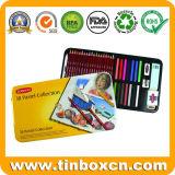 デッサンの執筆のためのカラー鉛筆の錫の箱、金属のギフト用の箱
