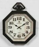 Orologio di parete domestico del metallo dell'oggetto d'antiquariato della decorazione