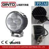 Luz auto redonda del trabajo de 4PCS Epistar LED para la grúa del coche de la carretilla elevadora