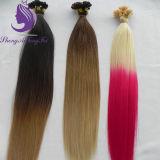 Estensione dei capelli del Virgin di punta della cheratina U di colore di #613/Pink Ombre