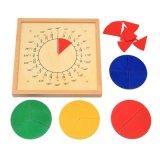 Venda por grosso Montessori Bebê Matemática Circular de madeira de ejeção da placa de escala de brinquedos educativos