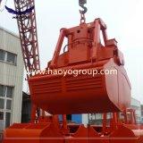 25t seul hameçon Clamshelll électro-hydraulique du moteur de navire Grab Grab