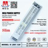 12V 16A Wechselstrom-Gleichstrom-Ein-Outputschaltung Stromversorgung 200W für LED-Beleuchtung