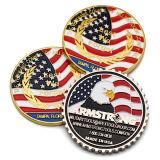 Comercio al por mayor baratos de alta calidad chapado en oro monedas de metal grueso metal con el Soft enamel
