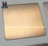 Feuille colorée d'acier inoxydable de qualité pour la décoration de projet de construction de porte de mur d'ascenseur