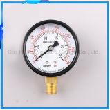 Manomètre de caisse de fer d'usine/mètre normaux en gros de pression