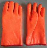Fluorescente naranja cálido Guante de PVC