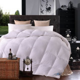 Cotton Stripe White Goose Down Comforter Made in Clouded