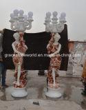 Красивые мраморные скульптуры освещения