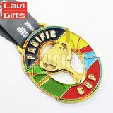 Médaille faite sur commande bon marché en gros de cuvette de trophée de souvenir de récompense de sport en métal