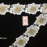 5cm型ポリエステル刺繍の大きい花はレースのトリムHme833をくり抜く
