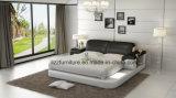 현대 침실 이탈리아 가죽 2인용 침대