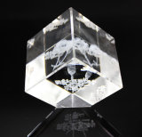 Пустой кубик кристаллический стекла K9 для гравировать с всеми DIY как настоящий момент для друга