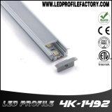 Encastré en aluminium monté sur le profil de la bande de lumière à LED