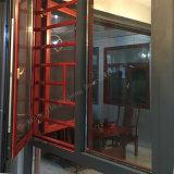 금속 단면도 두 배 비행거리 스크린을%s 가진 유리제 알루미늄 여닫이 창 Windows 또는 문