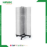 Crémaillère d'étalage de voie de Gridwall 3 en métal