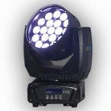 fascio dello zoom di alta luminosità LED di 19PCS 15W ed indicatore luminoso capo mobile della lavata
