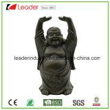 Statua felice di Polyresin Buddha con levarsi in piedi Fengshui per la decorazione del giardino e della casa