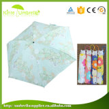 Parapluie Pocket portatif de 5 fois d'anti pluie UV de poids léger mini
