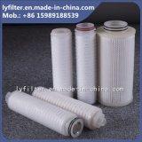 Cartucho de filtro plisado polipropileno de agua de 0.22 micrones 5 pulgadas